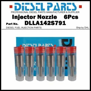 6Pcs Injector Nozzle Tips DLLA143P1536 0433171947 for IVECO EUROCARGO 0445120054