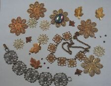 Metal stampings for Steampunk jewelry making lot of 28 pieces