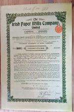 Irish Paper Mills Share certificate signed by Guiness Museum Repro Debenture