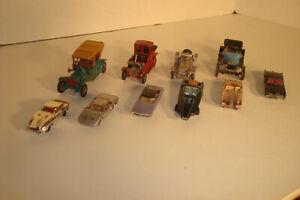 SALVAGE LOT OF 10 MATCHBOX CARS YESTERYEAR AURORA JOHNNY LIGHTING CORGY CARS