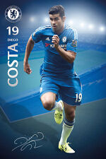 Rare DIEGO COSTA Chelsea FC 2016 SIGNATURE SERIES Football Soccer Action POSTER