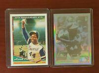 2 Card Lot 1991 Upper Deck Hank Aaron Hologram 1994 Topps 20th Anniversary #715