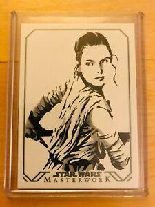 Topps Star Wars MASTERWORK REY Artist SKETCH CARD by ROBERT TERANISHI