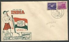 India 1955 5 Year Plan 2v private FDC