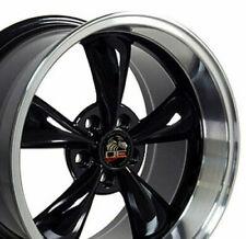 "17"" Rim Fits Ford Mustang Bullitt FP01 Black Mach'd 17x10.5 Wheel REAR ONLY"