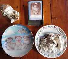 DREAMSICLES Lot ANGELS CHERUB Items Plates Figurine Book Stickers by Kristin