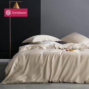 100% Silk Bedding Set Silk Beauty Duvet Cover Set Flat Sheet Pillowcase Bed Set