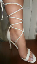 cff72384811 LADIES  MISSGUIDED LACE UP SANDALS  SIZE 7 40  WORN ONCE