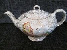 Vintage Empire Ivory and Gold Kitsch Teapot VGC Flower Shop & Cottage Design