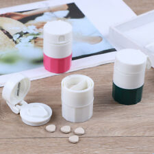 4in1 Pill medicine crusher grinder splitter tablet divider cutter storage box BH