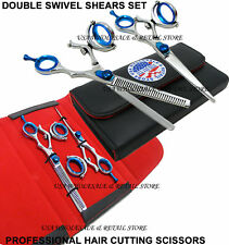 DS1LH LEFTY LEFT HANDED DOUBLE Swivel Hair Cutting Thinning Shears Scissor Set
