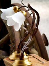 WANDLAMPE Blumen Blätter rot gold Lampe LEUCHTER Metall Tischlampe Florentiner