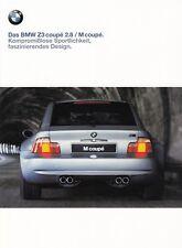 BMW Z3 COUPE 2.8 M Sportscar Youngtimer Classic Prospekt Sales Brochure 1998 49