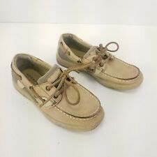 Sperry Top Sider Boat Shoes Kids Us Size 1.5 Slip On Comfort Casual Wear Euc