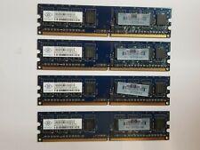 HP Nanya 2GB (4X512MB) DDR2 PC2-5300U-555-12-D1 NT512T64U88B0BY CL5 PC Ram