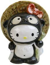 Shigaraki Ware HELLO KITTY Pottery Tanuki Raccoon Dog Japan Kawaii