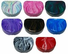 Sedroc Marble Mouthguard Case with Snap Lid for Sports Retainer or Dentures