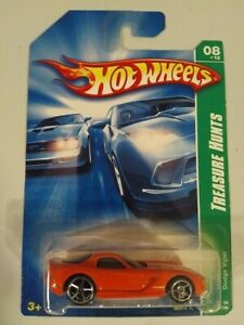 Treasure Hunt - 2008 Hot Wheels #08 of 12 Dodge Viper (long card)