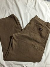 Dickies Duck Canvas Work Pants Relaxed Fit Brown Size 40x32 Style ED218STB