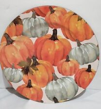 Thanksgiving Fall Harvest Pumpkin Chargers Plates Set of 4 NEW