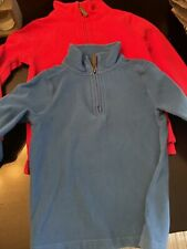 Crewcuts Boys Sweatshirt Sweater Pullover Size 4-5 Red And Blue 1/4 Zip