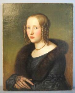 Traumhaftes Portrait einer adeligen Schönheit, Biedermeier, sign. und dat. 1812