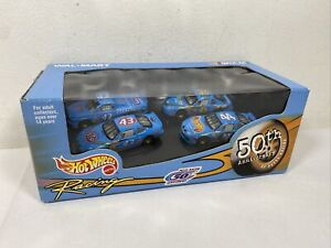 1999 Hot Wheels NASCAR Petty Racing 50th Anniversary 1/64 4 Car Walmart Set