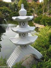 Pagode auf Brücke japanische Steinlaterne Laterne HK Frost u. Wetterfest