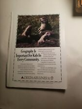 1993 print ad-Delta Airlines-Geography is Important for Kids-Prairie Dogs