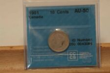 CAN 1901 10 cents Certified AU-50