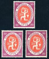 DR 1919, MiNr. 110 a, b, c, tadellos postfrisch, gepr. Infla, Mi. 61,50