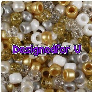100 x Gold Angel Mix 9x6mm Barrel Shape Pony Highest Quality Beads