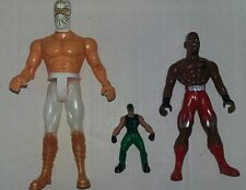 ASSORTED WRESTLING ACTION FIGURES LOT X3-LUCHADORES,MYSTERIO,THE DRAGON-LOOK!