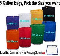 Pro Essense Extractor Kit Herbal Ice Bubble Hash 5-Gallon Bag W/ Pressing Screen