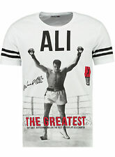 Muhammad Ali T-Shirt 100%Cotton Weiß Gr. S-XXL