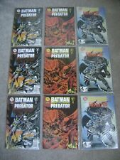 3 SETS! BATMAN VS PREDATOR #1 2 3 SET DC COMICS 1991 LOT OF 9  VF+ TO VF/NM RUN