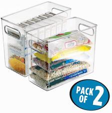 New mDesign Refrigerator, Freezer, Pantry Cabinet Organizer Bins for Kitchen,