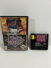 PowerMonger Power Monger (Sega Genesis, 1992) In Box Tested - Free Shipping