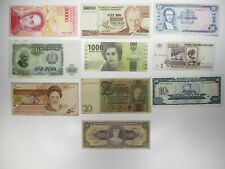 10 Assorted World Banknotes Paper Money Lots Circulated Foreign Currency Notes