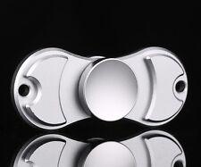 En métal argenté double doigt main Spinner Bangers Spinning jouet Acier Roulement