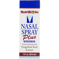 NutriBiotic  Nasal Spray Plus with Grapefruit Seed Extract  1 fl oz  29 5 ml