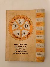 1957 The Official WMDAA Catalog of Genuine Watch Parts How to Book Colored Ads