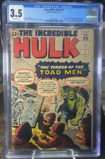 1962 The Incredible Hulk #2 CGC 3.5 OW - 1st Appearance Of GREEN Hulk - Marvel