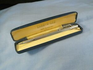 YARD O LED ART DECO VINTAGE PROPELLING MECHANICAL BOXED STERLING SILVER PENCIL