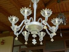 Lampadario Vintage vetro murano con oro fatto a mano