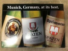 *NEW* Spaten Beer Sign - Metal Sign w/ Spaten Lager, Optimator & Franziskaner