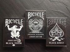 """lot de 3 """""""" Bicycle Legacy Edition"""""""" le set   carte à jouer    ellusionist poker"""
