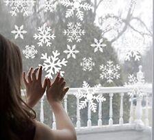27pcs/lot White Sticker Decoration Snowflake Window Glass Christmas Kids Room