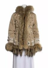 RARE Bogner GOAN THYLMANN Down Ski Jacket Fur Trim Hood Embroidered US 4 / 34