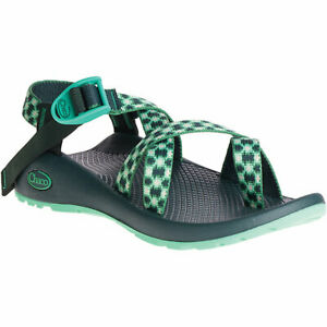 CHACO z2 classic SANDALS, brocade Pine, vert, Toe Strap, med. choose size, NEW!